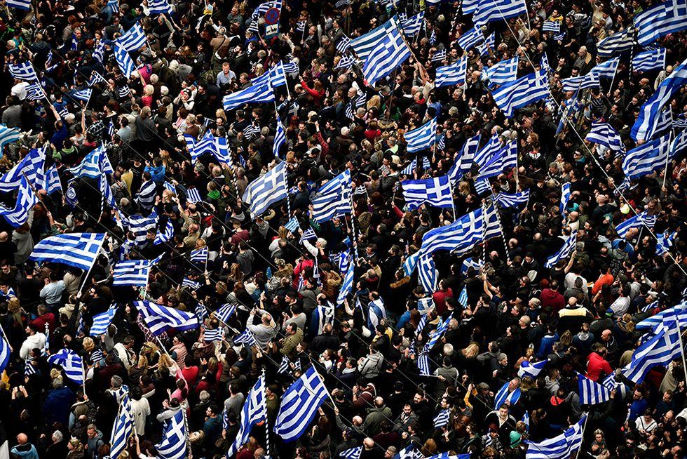 希臘數十萬民眾示威反妥協