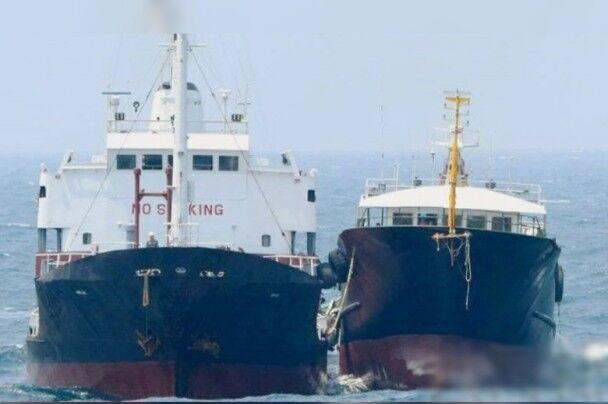 日本發現朝鮮油輪公海偷移貨物