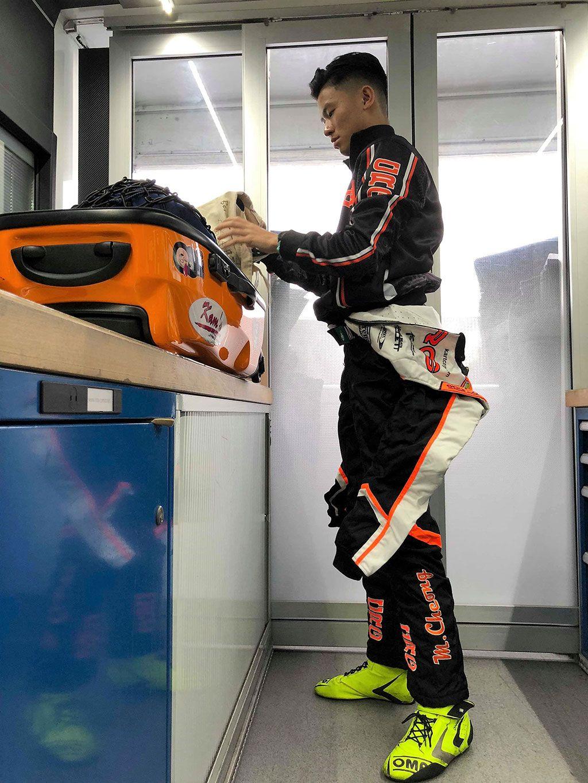 蔣文曦參加歐洲小型賽車錦標