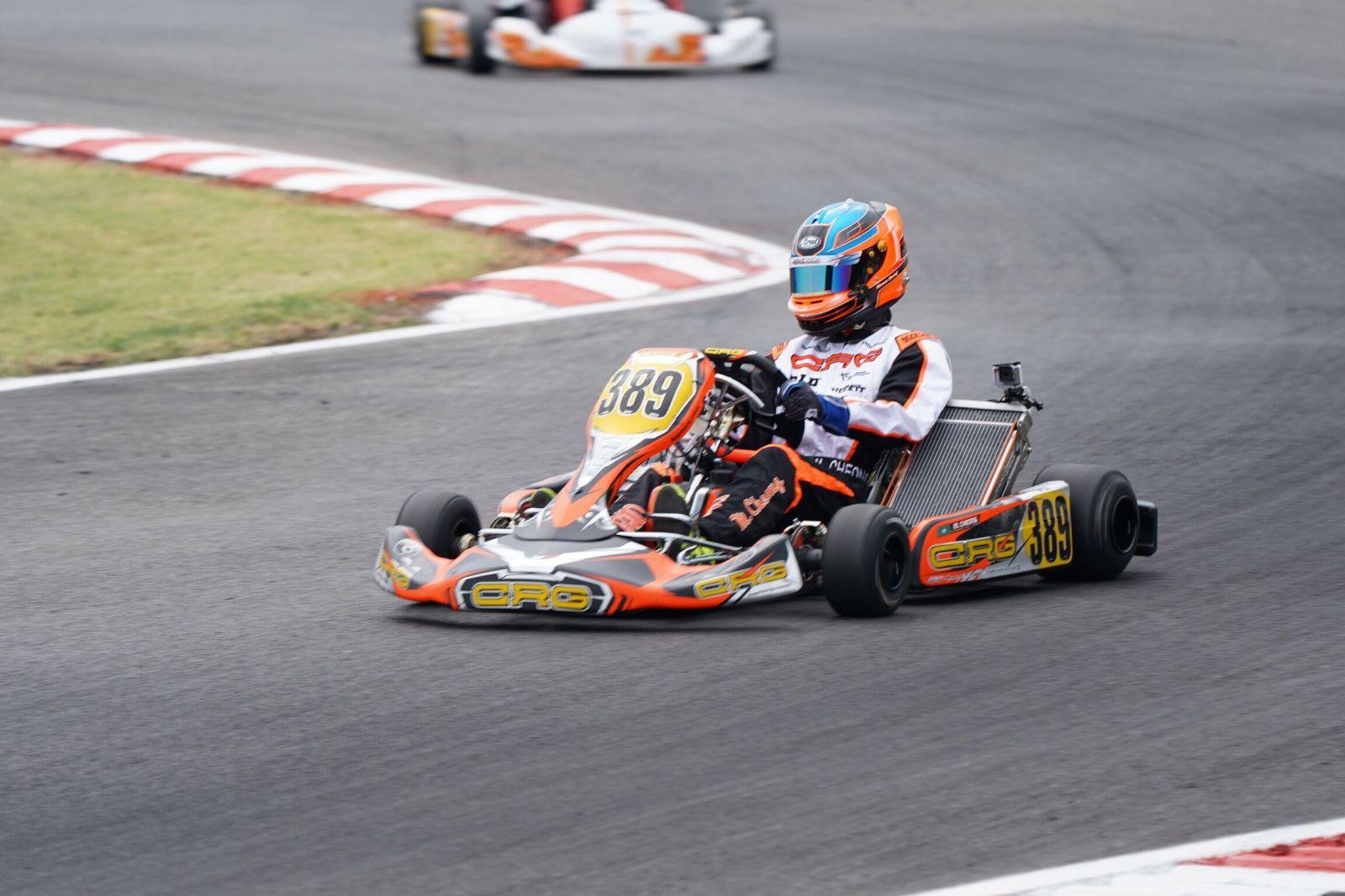 蔣文曦參加歐洲小型賽車錦標賽
