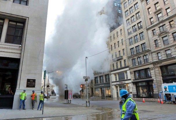 紐約地下蒸汽管爆炸 至少11人傷