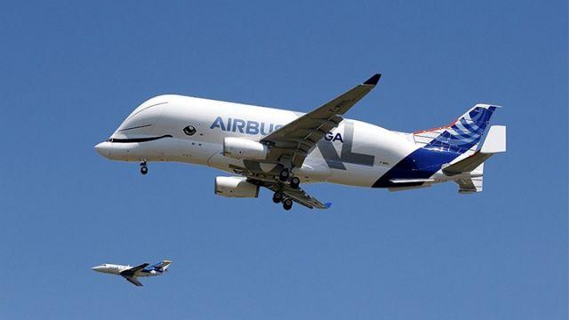 萬人見證空巴「超級大白鯨」飛上天