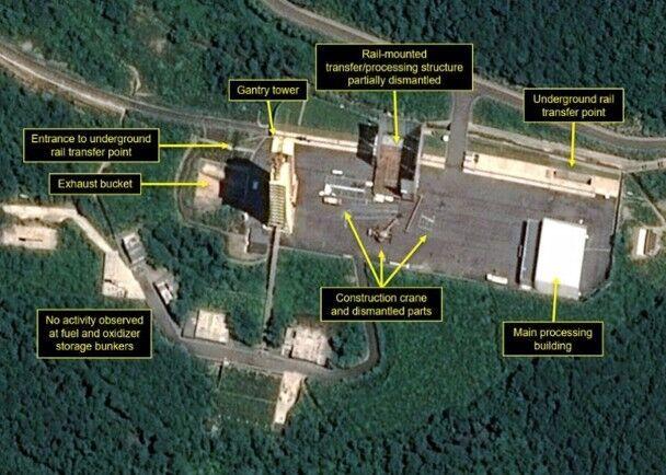 據報正拆除導彈引擎測試設施