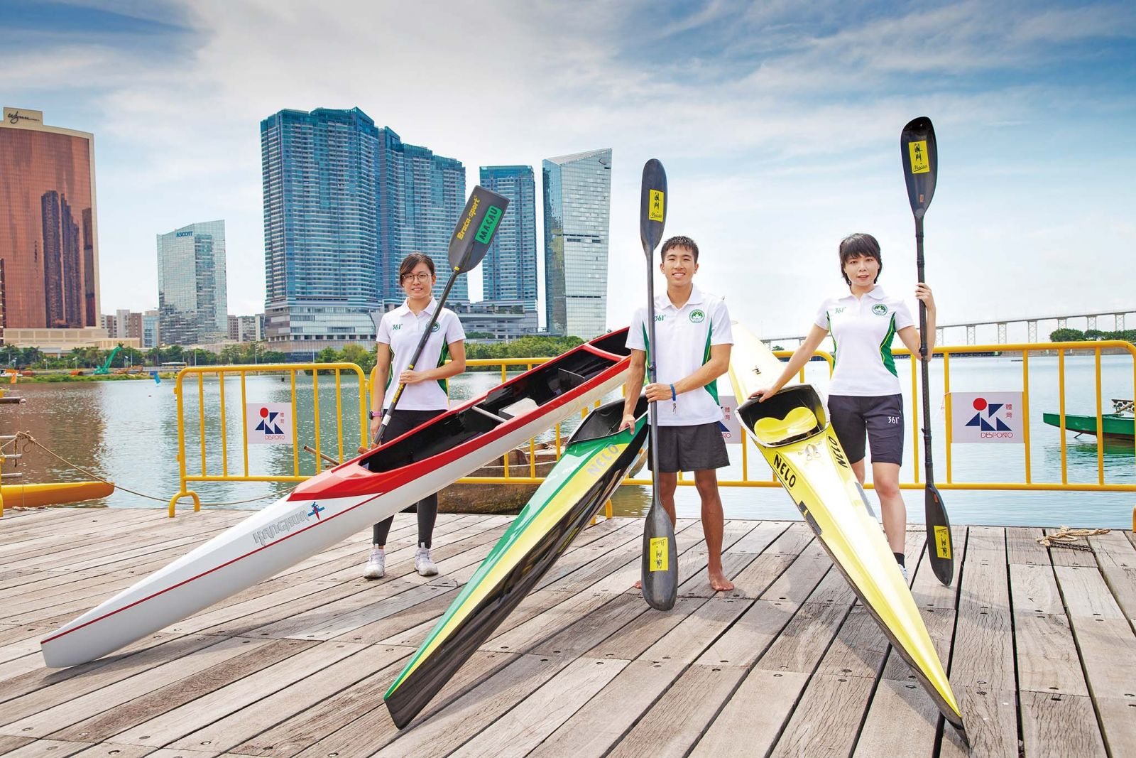 獨木舟選手挑戰自我