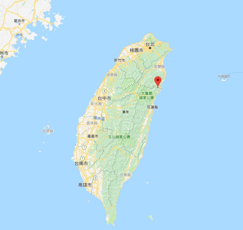 台灣花蓮發生4.2級地震