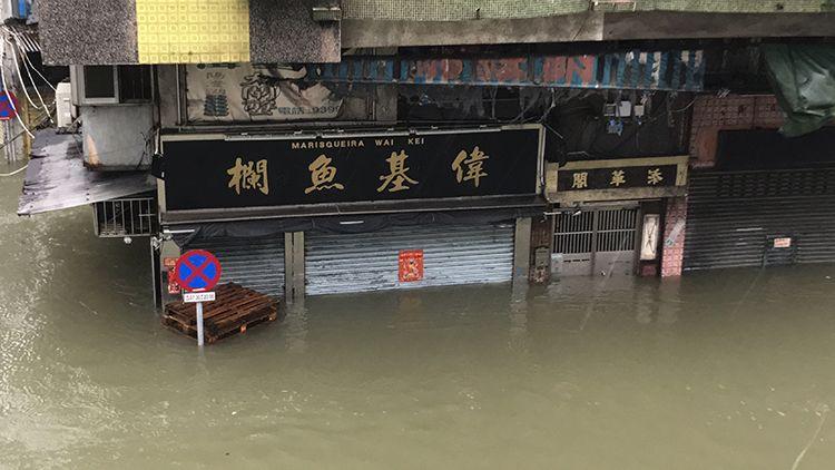 【山竹直擊】有片!內港水位超過1.5米