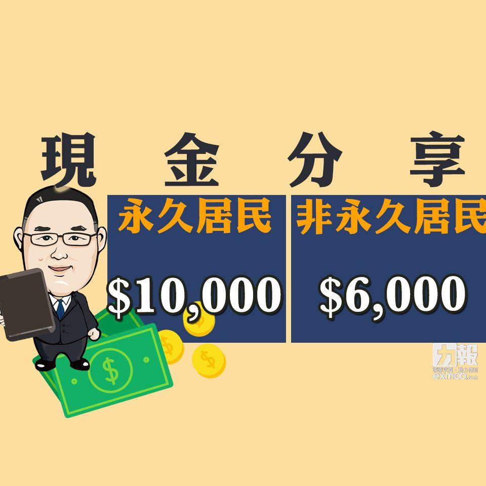 有片!明年度現金分享增至10,000元