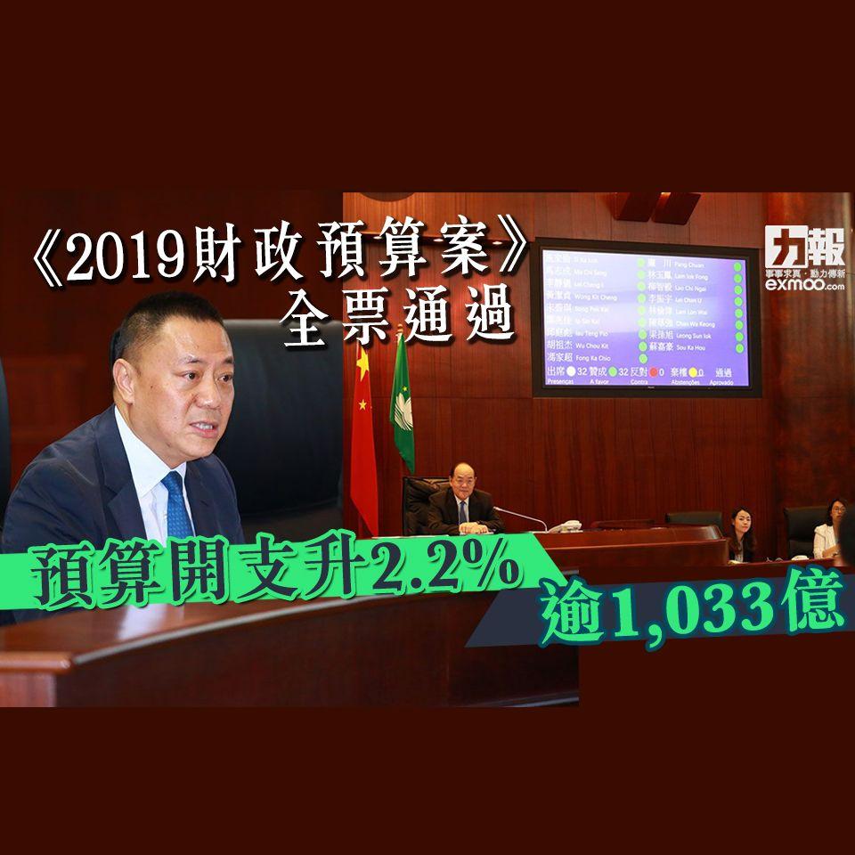 預算開支升2.2%逾1,033億