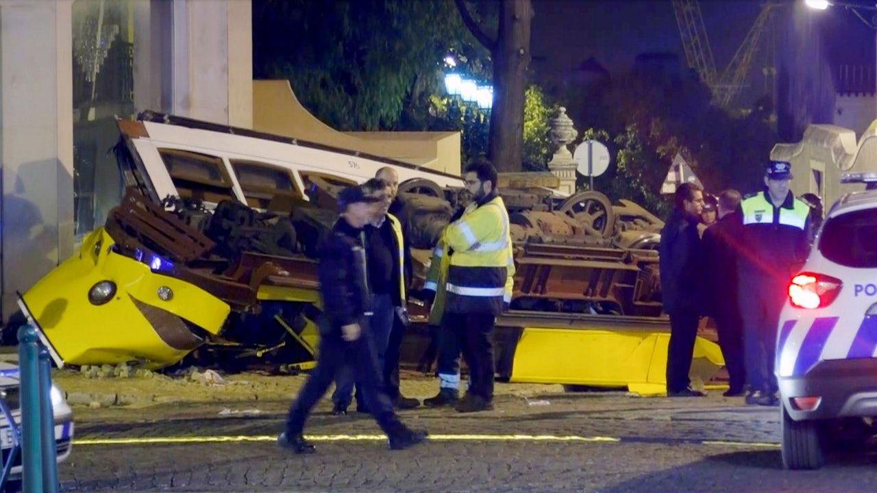 葡萄牙電車脫軌 至少28傷