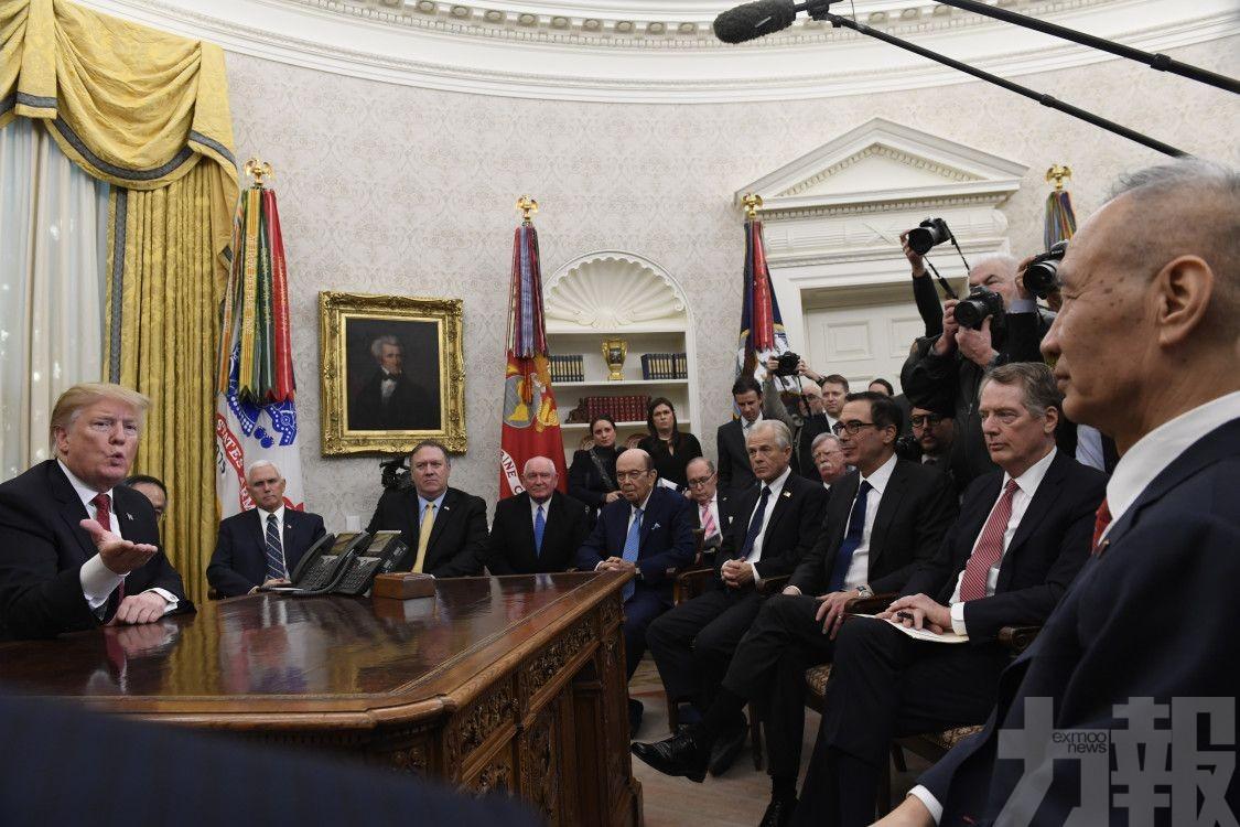 特朗普形容談判取得重大進展