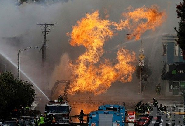 三藩市地底輸氣管爆炸波及5大廈