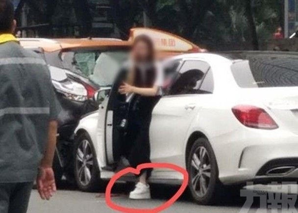 廣州女衝紅燈直鏟斑馬線行人13傷