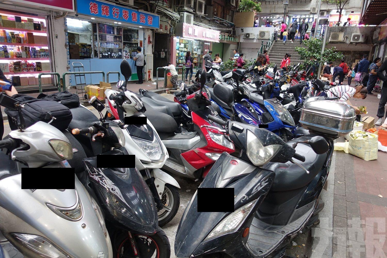 多個電單車泊車區續增交通輔助標誌