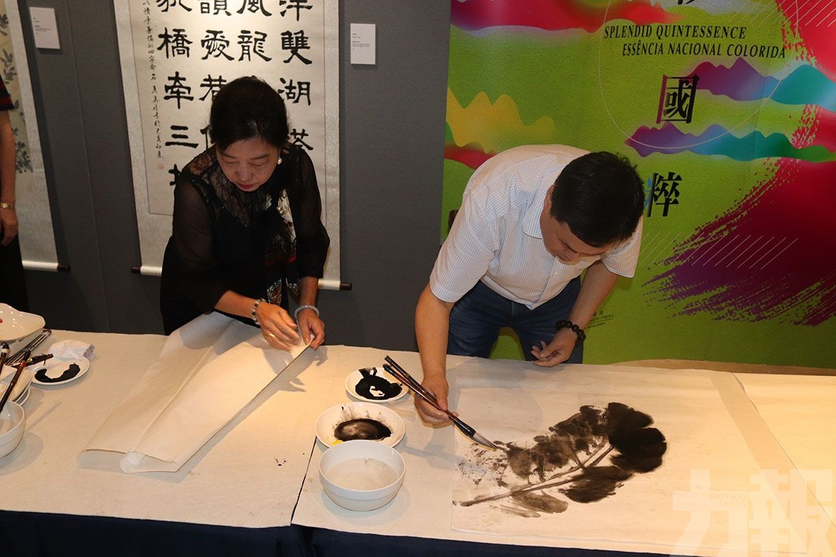 中華書畫聯展下午揭幕