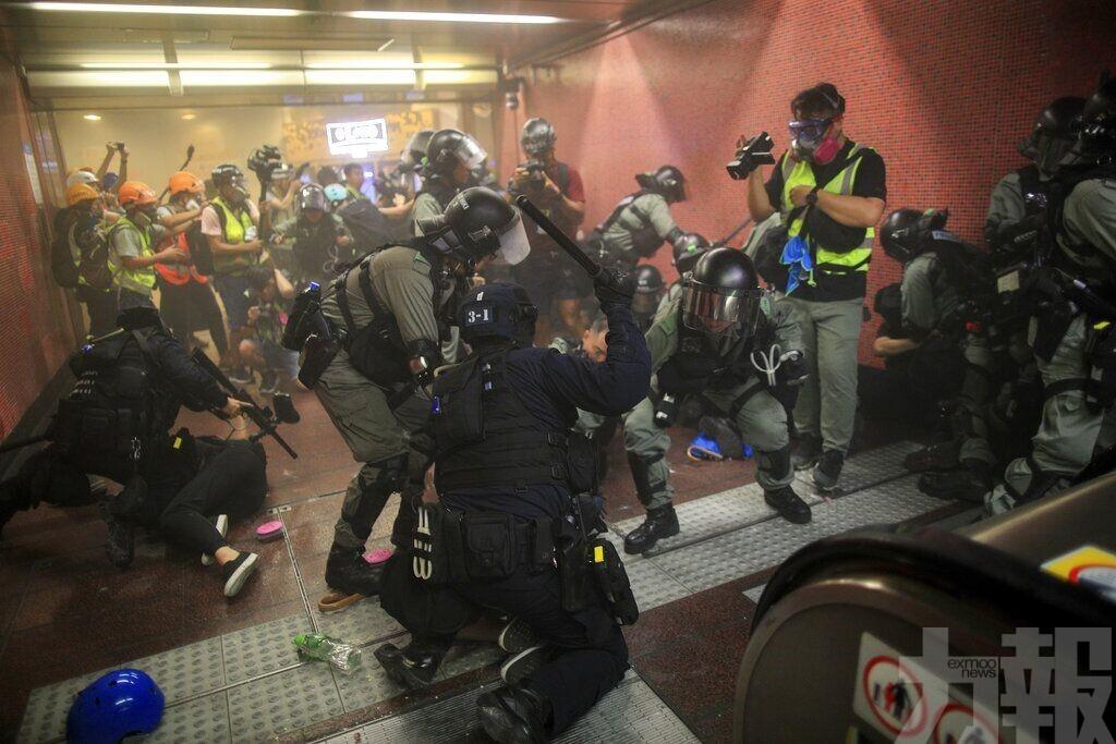 指「香港現恐怖主義苗頭」