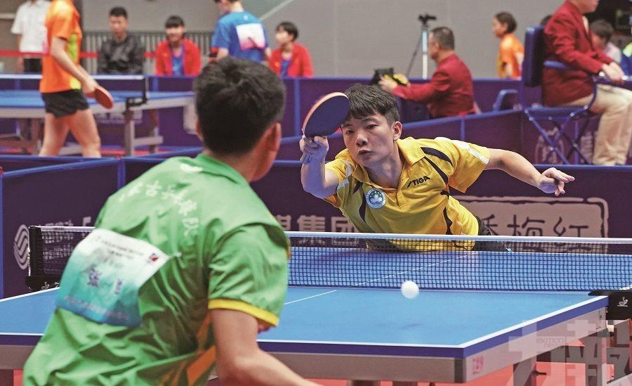乒乓戰將顯拼搏精神