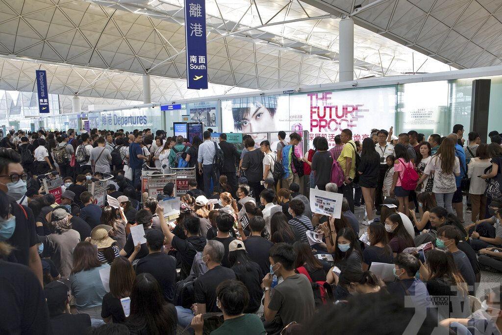 港機場關閉大部分離境大堂閘口