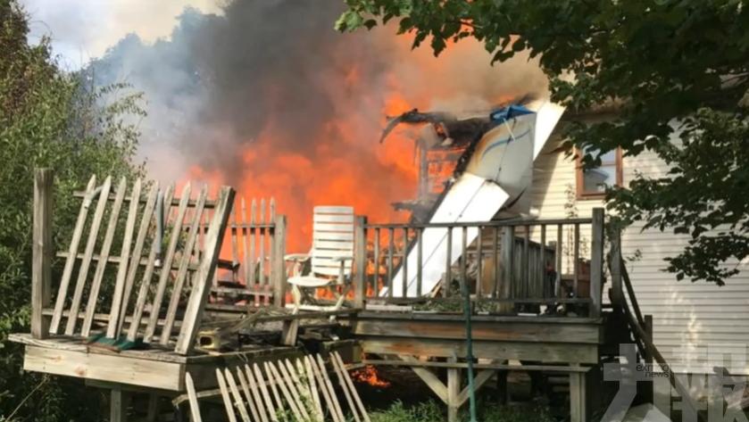 美小型飛機撞民居 2死3傷1失蹤