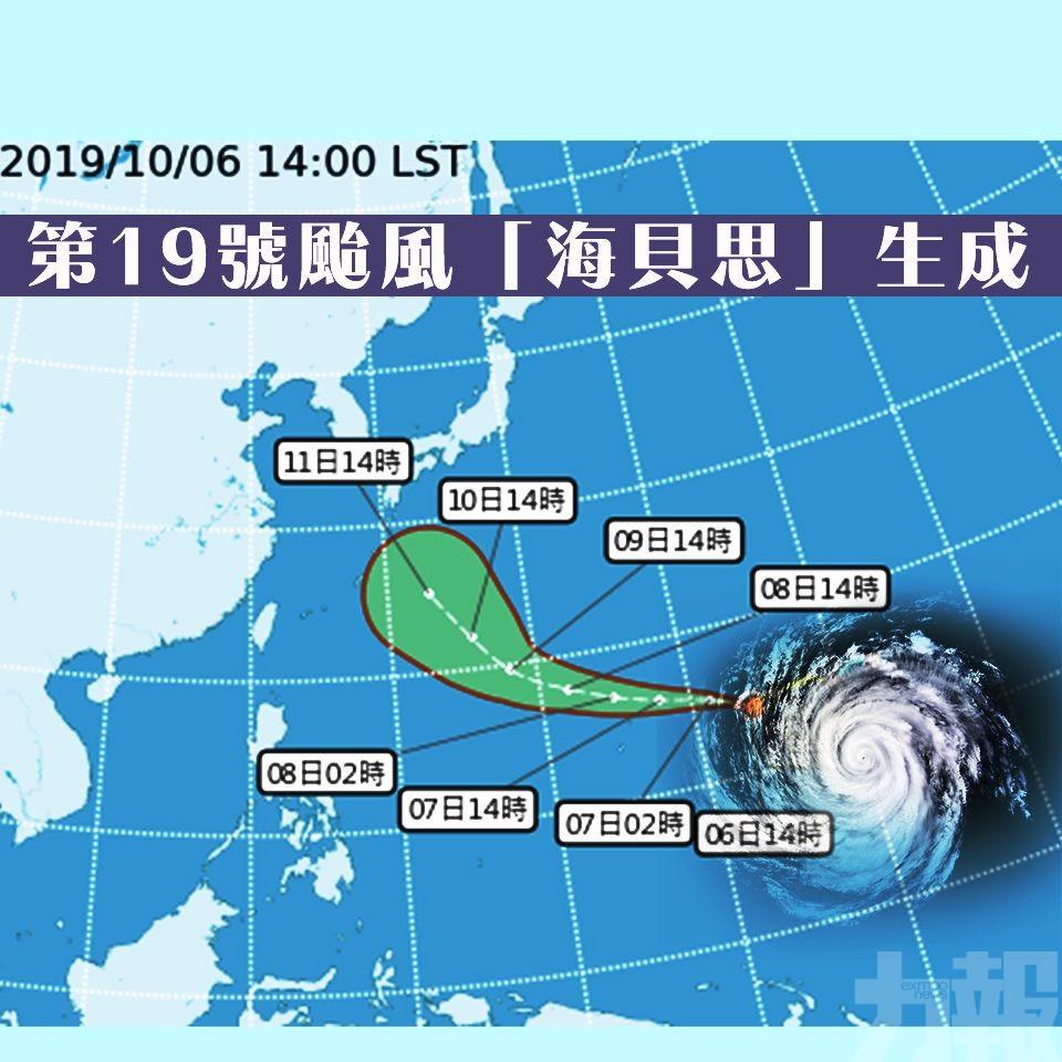 第19號颱風「海貝思」生成