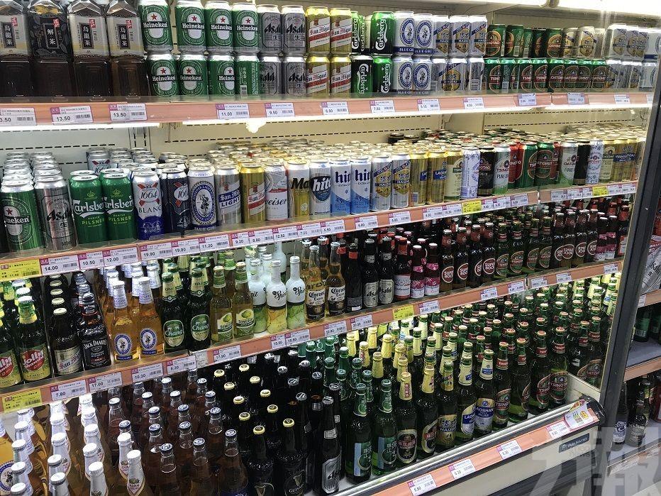 酒精濃度超1.2%列酒精飲品