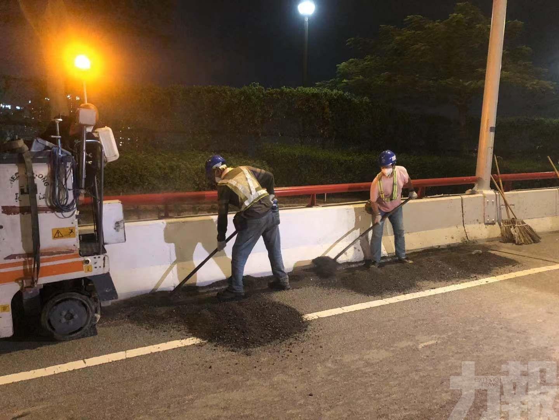 有片!友誼大橋引橋開始緊急維修