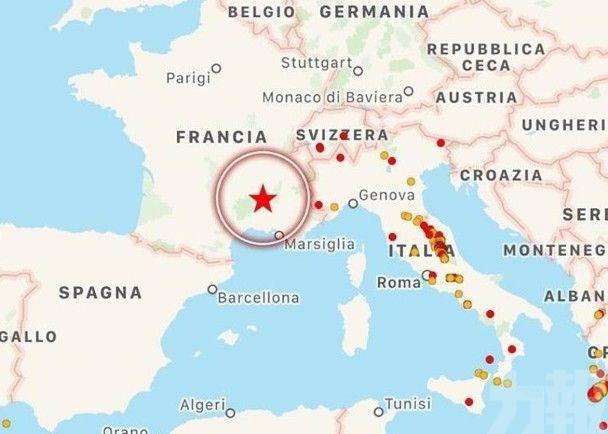 法國東南部5.1級地震4人傷