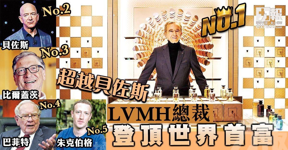 LVMH總裁登頂世界首富