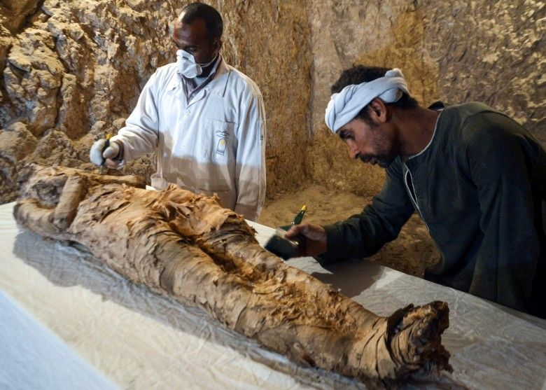 埃及古墓發現3,500年前木乃伊