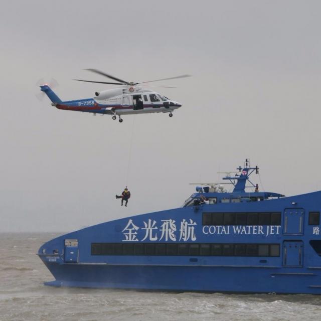 模擬兩船相撞考驗救援反應