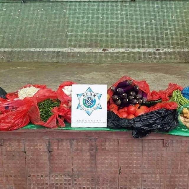 檢254公斤蔬菜及20公斤肉類