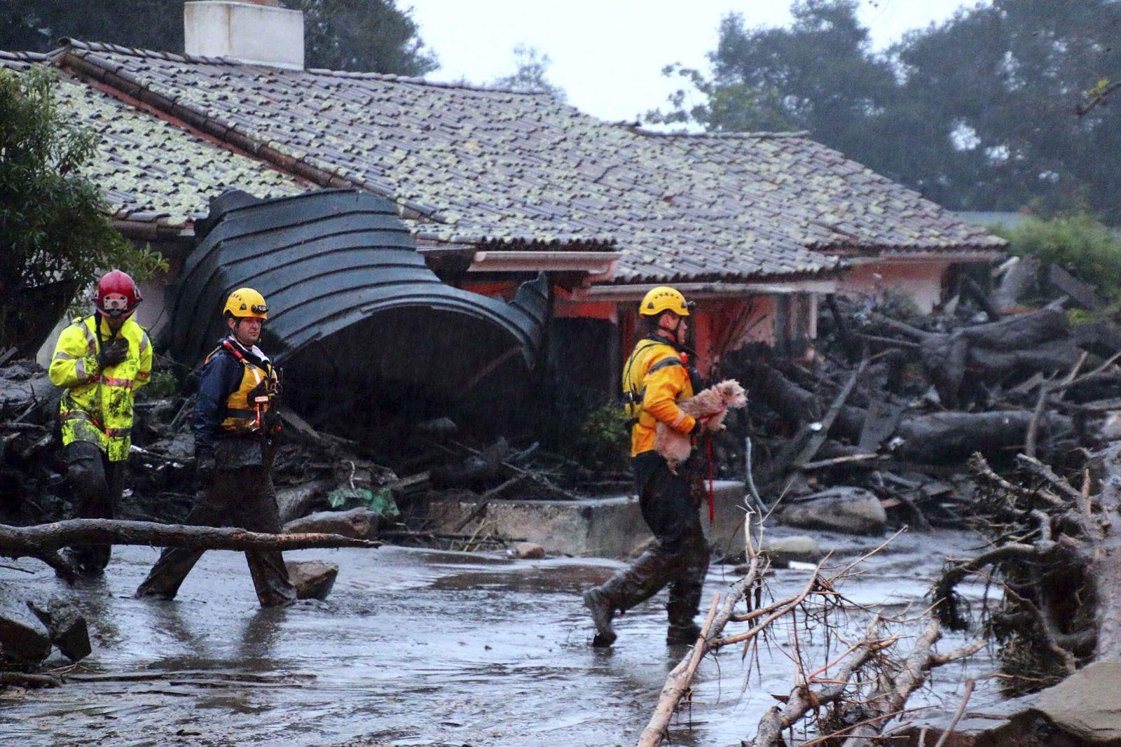 加州南部暴雨引發山泥傾瀉13死