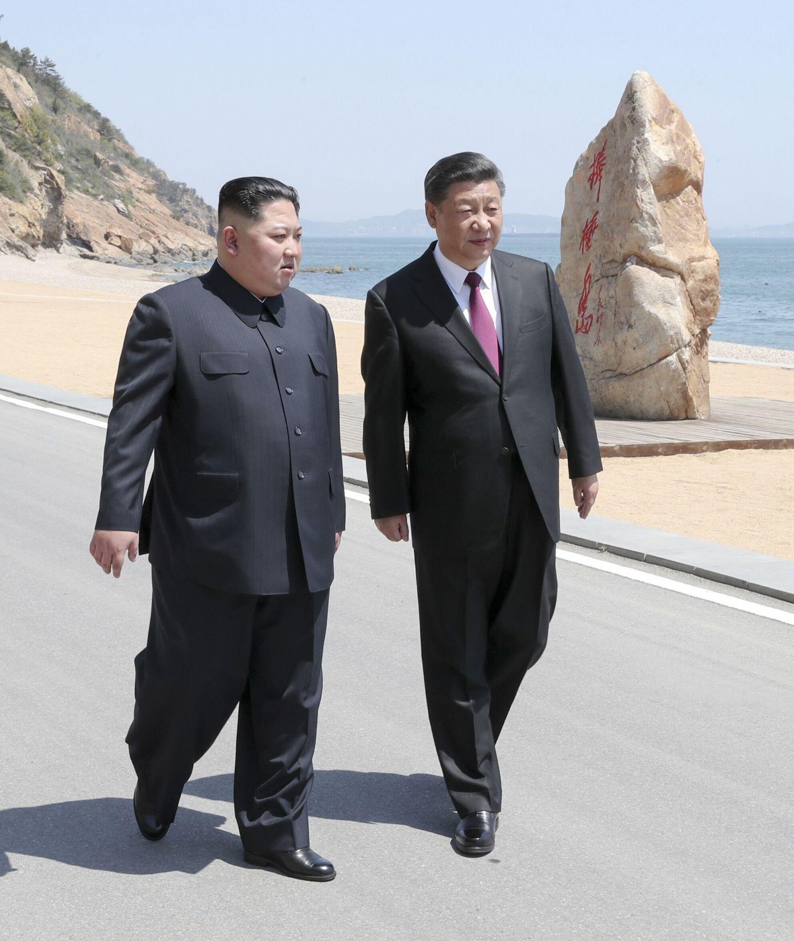 習近平與金正恩在大連會晤