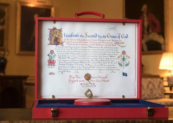 英女王發手諭 御准哈里梅根結婚