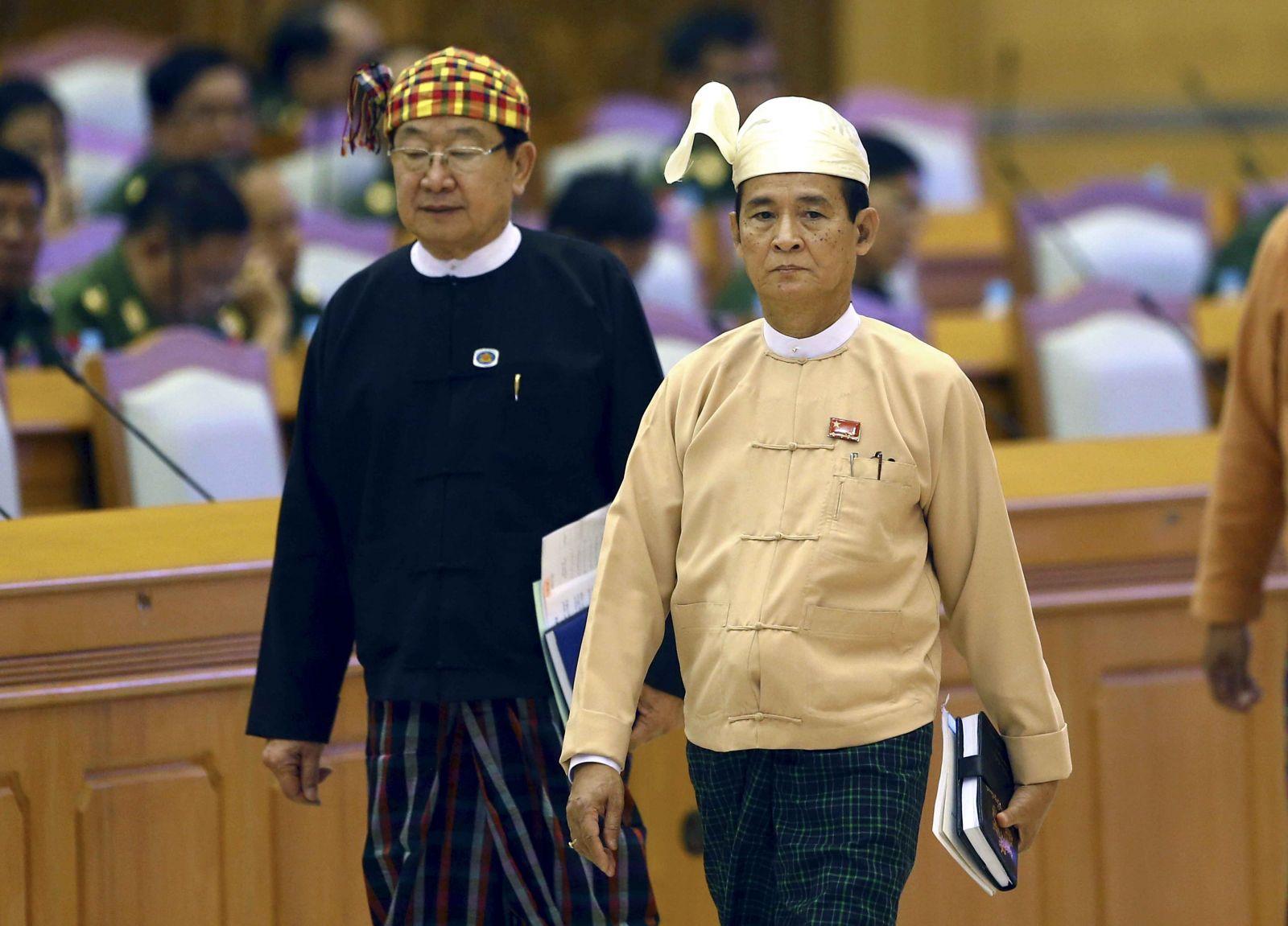 溫敏當選緬甸新總統