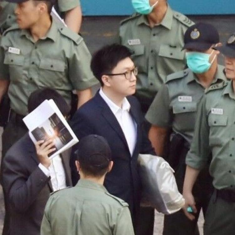 梁天琦暴動襲警罪成判監六年
