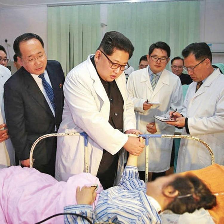 看望朝鮮車禍中國傷者