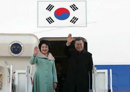 文在寅抵達北京 展開訪華行程