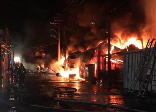 桃園工廠宿舍起火五傷六失蹤