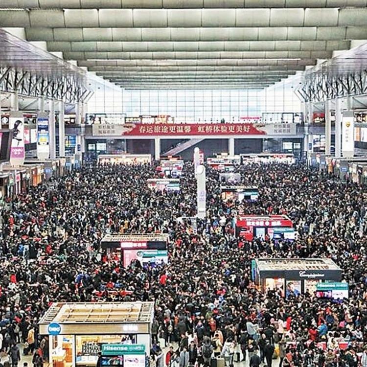 全國旅客發送量7.32億人
