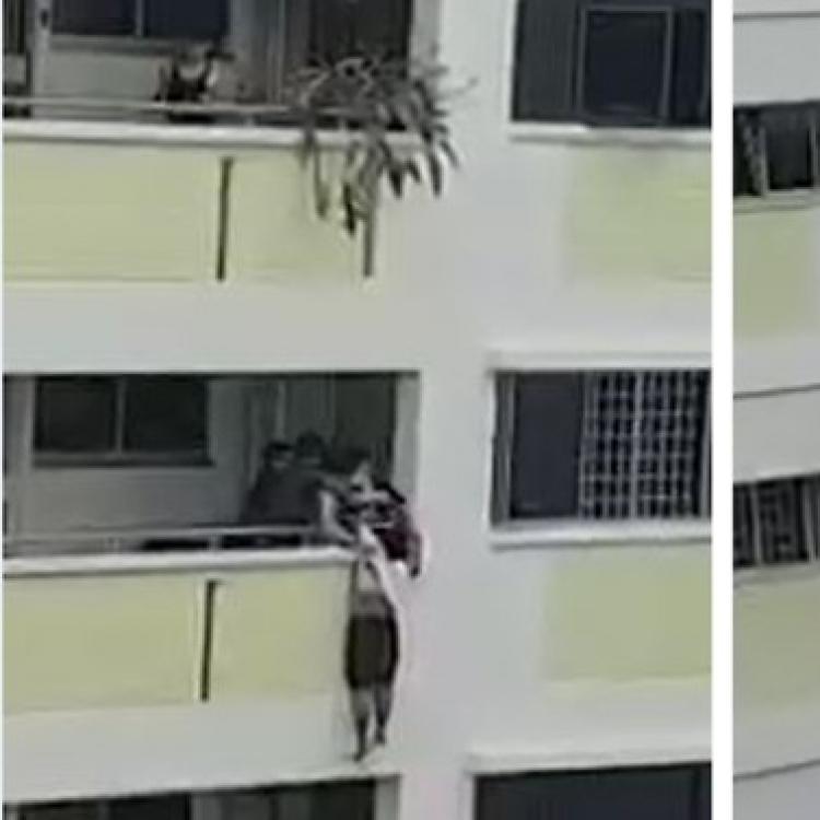 翻窗出門險跌落樓
