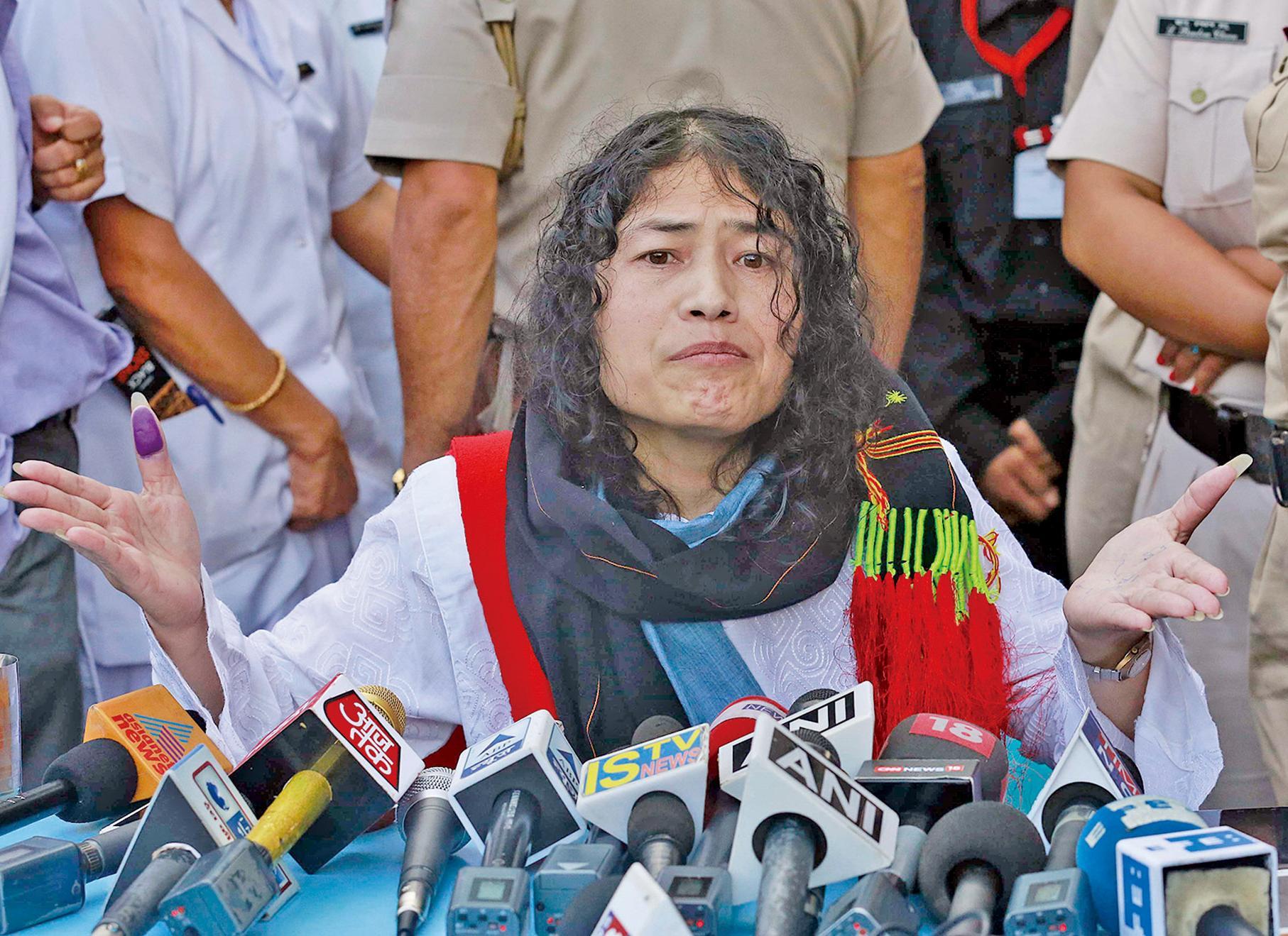 終止16年絕食抗議