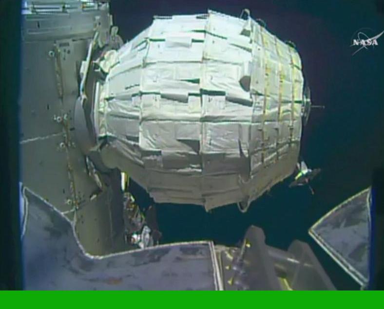 成功安裝首個充氣式太空艙