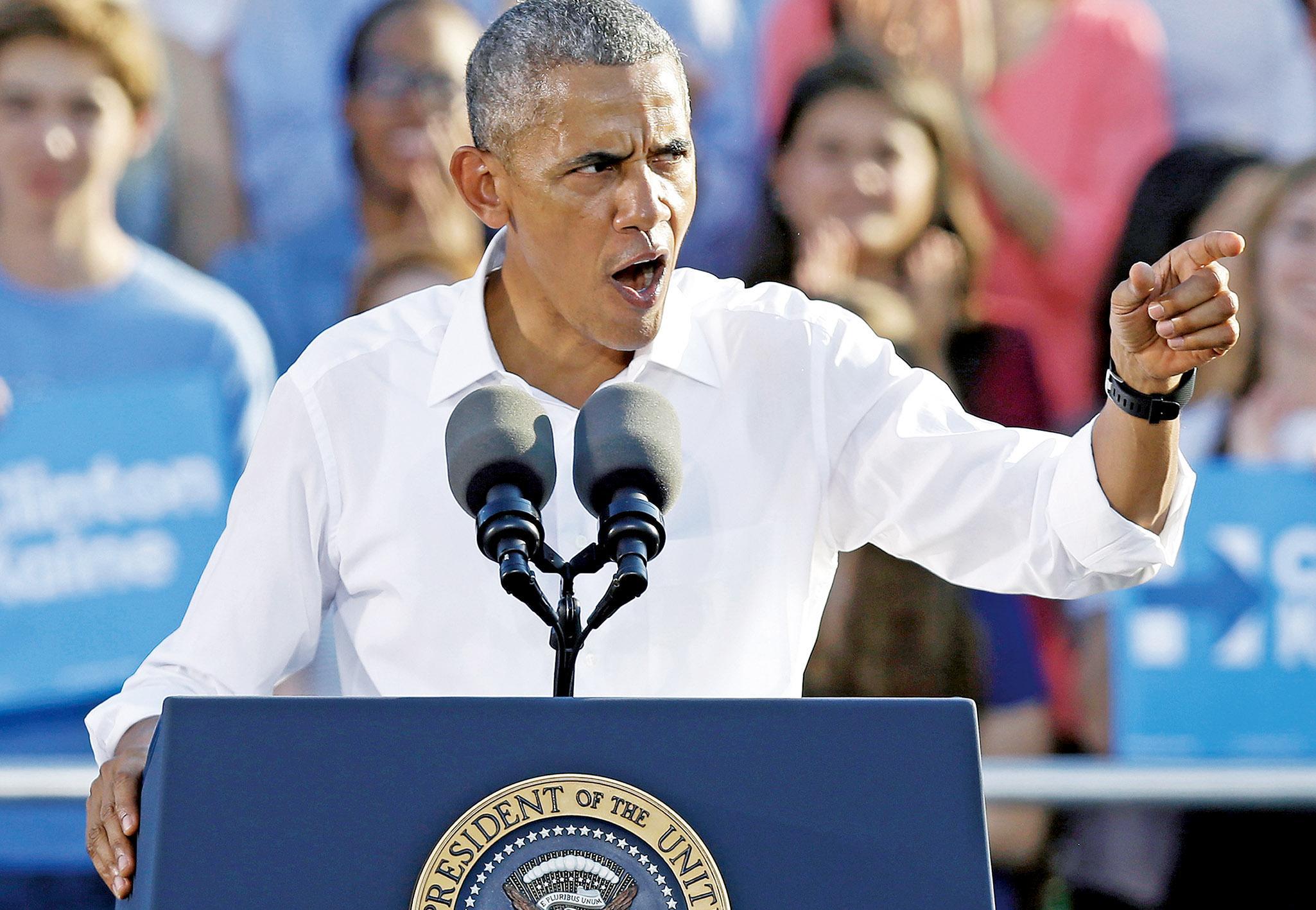 奧巴馬力撑希拉莉