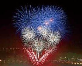 「十一」燃放煙花慶祝國慶