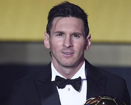 美斯五度當選世界足球先生