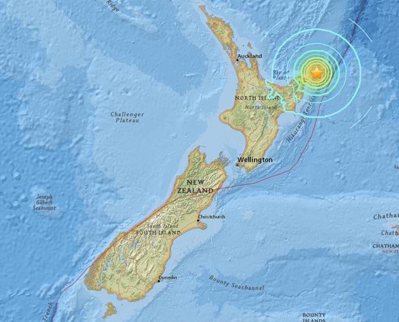 紐西蘭7.1級地震無傷亡