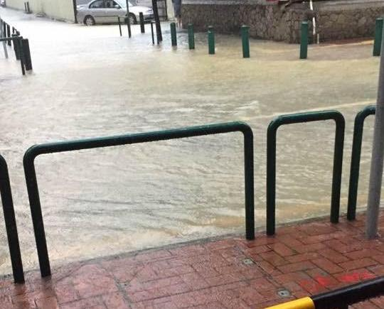 民防行動中心公布各區水浸情況