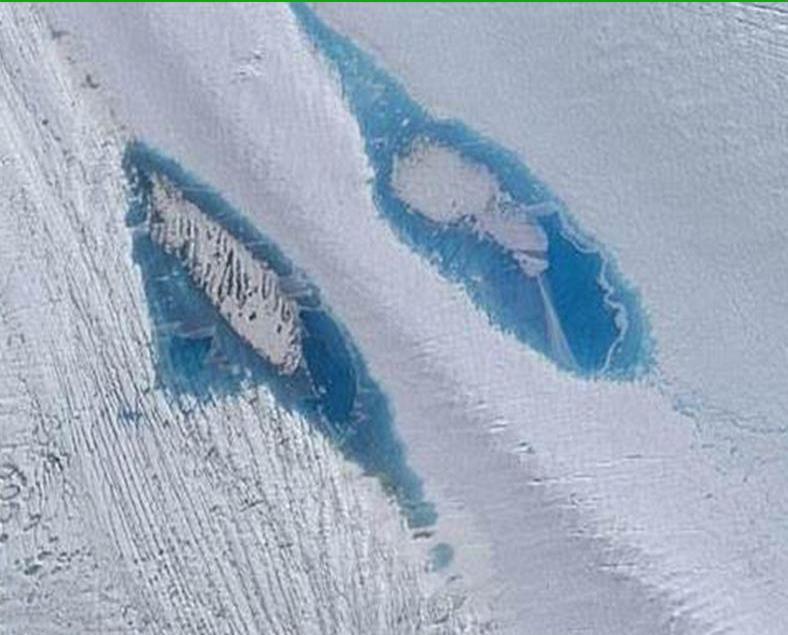 南極現逾8,000冰上湖