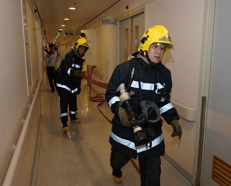 消防局鏡湖醫院聯合火警演習