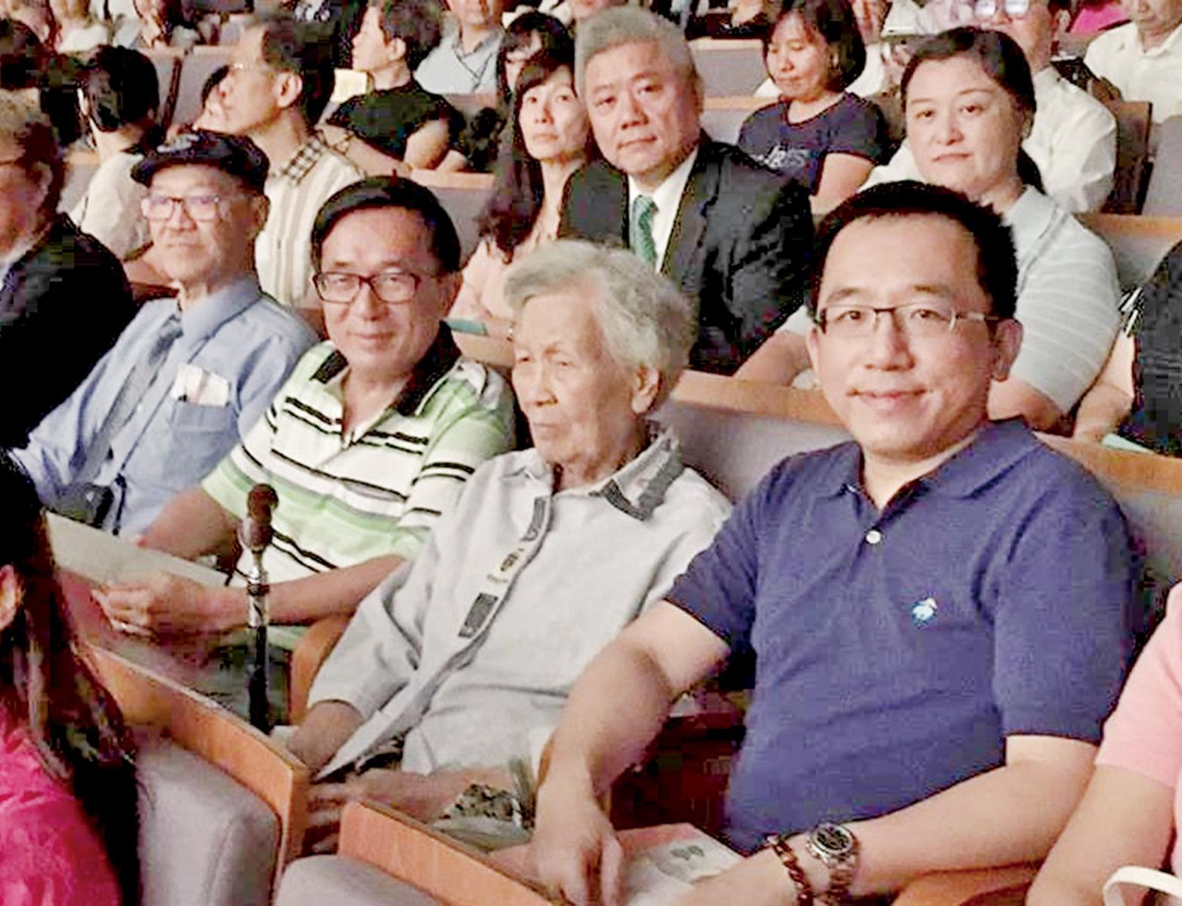 陳水扁未致辭受訪
